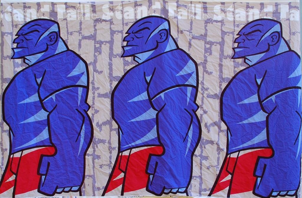 three blue guys
