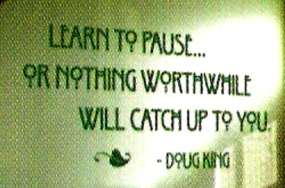 to pause quote