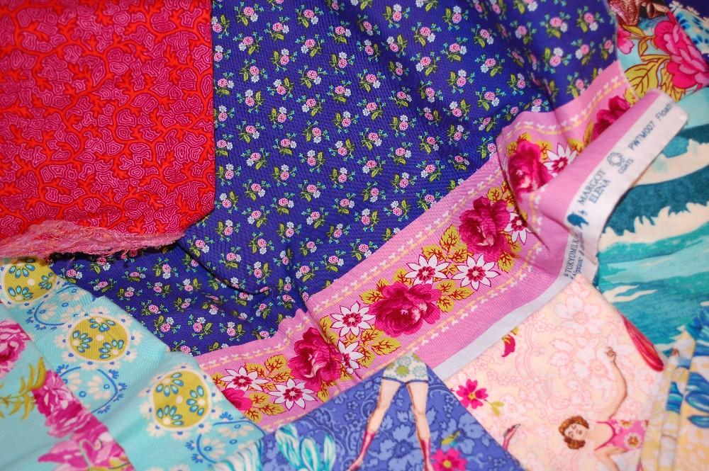 Free spirit fabric, Patchwork, quilting, scrap quilt, Tokyo Milk