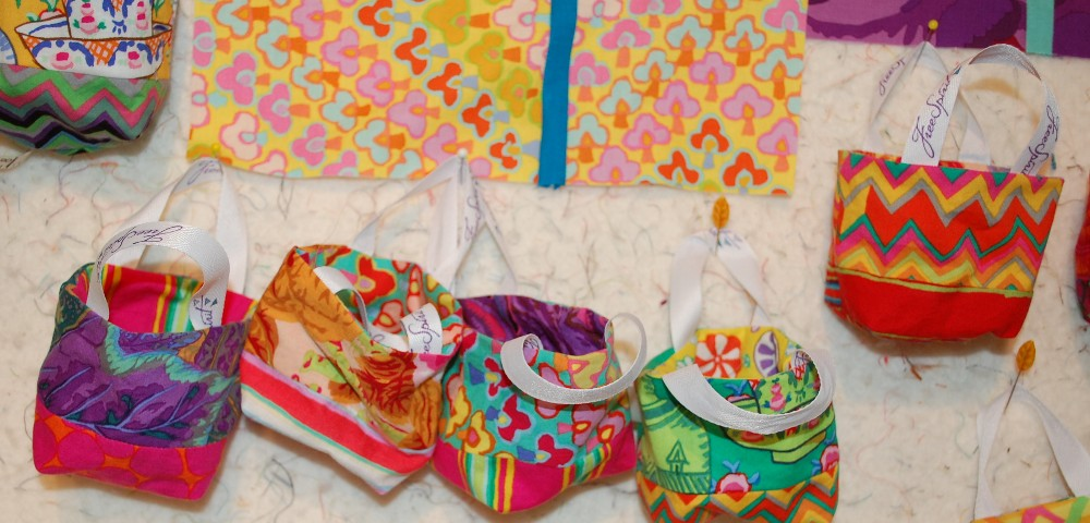 kaffe fassett party favor bags treat bags