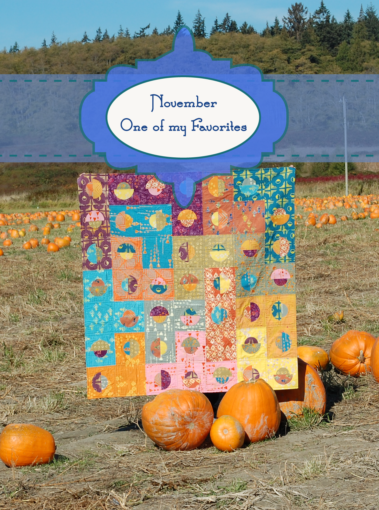 November -My Favorite Month Dot Code Quilt Banyan Batiks Tie One On