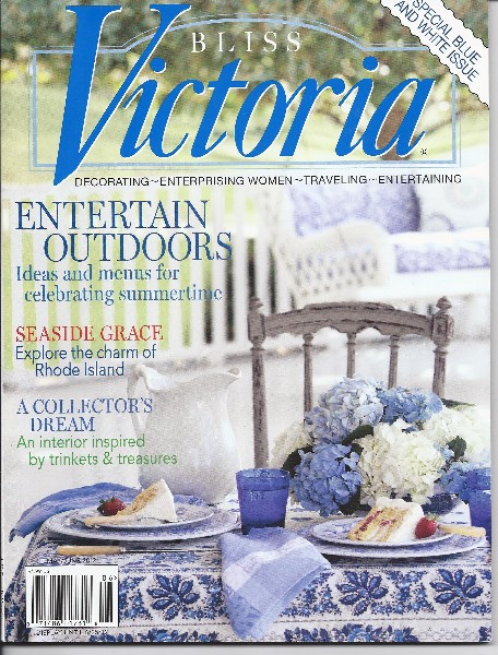 blue and white Victoria cover