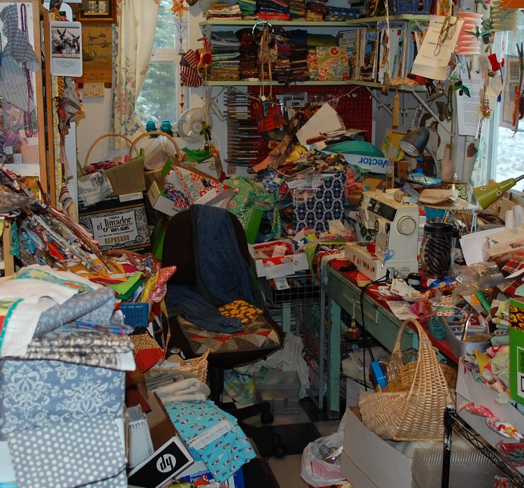 small image of part of studio mess
