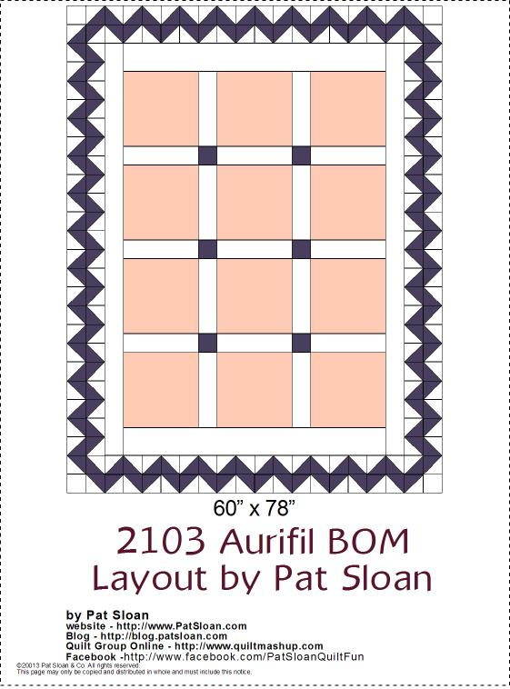 2013 Aurifil DOM setting layout