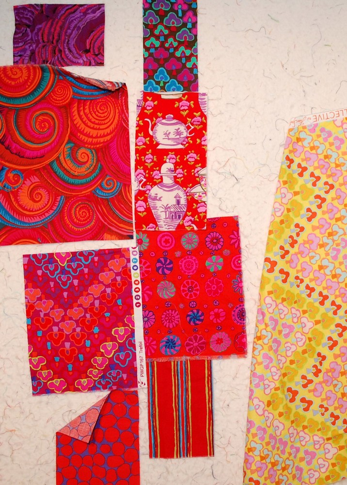 Kaffe Fassett Fall Collection -- Painted Forest Quilt Blue Nickel Studios