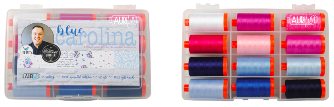 Blue Carolina, Aurifil Thread, Fabric Giveaway, Aurifil Giveaway, Quilting, Quilting Giveaway, Prize Drawing