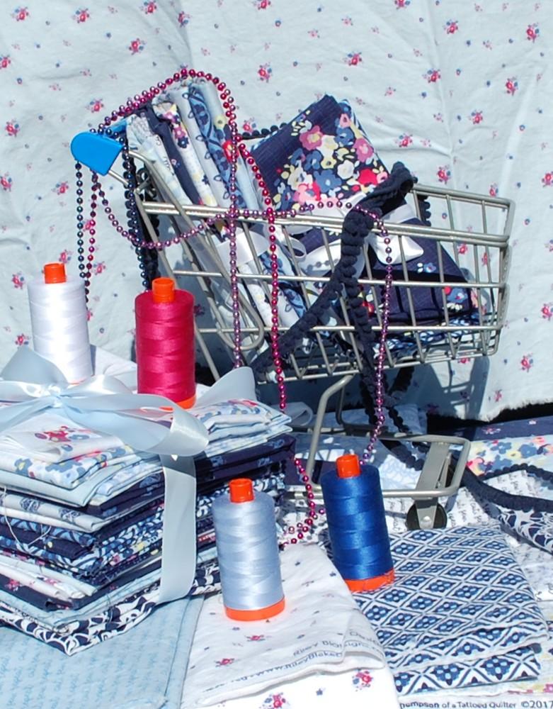 Aurifil thread. Blue Carolina fabric, Riley Black Designs, Blue Nickel Studios, Urban Folk Quilt, Giveaway, Quilting
