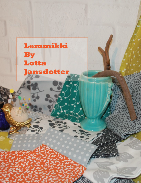 lotta jansdotter, lemmikki fabric, Windham fabrics, blue Nickel Studios
