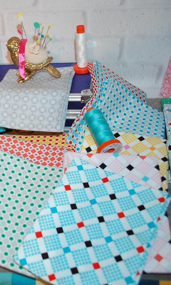 New Vintage Fabric, Uppercase Volume 2, Janine Vangool, Windham Fabrics, Quilting, Blue Nickel Studios, ManQuilter, Scott Hansen Quilts, Scott Hanson Quilts, Blue Nickle Studios, Modern quilting, Aurifil Thread