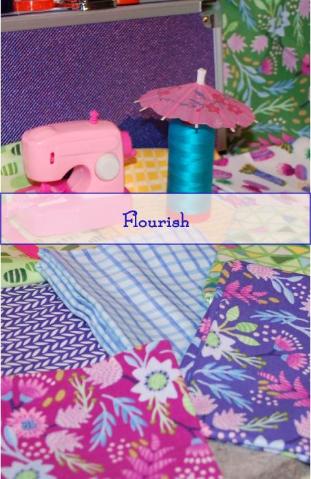 Flourish Line, Mia Whittemore, Windham Fabrics, Spring Colors, Summer Colors, aurifil thread