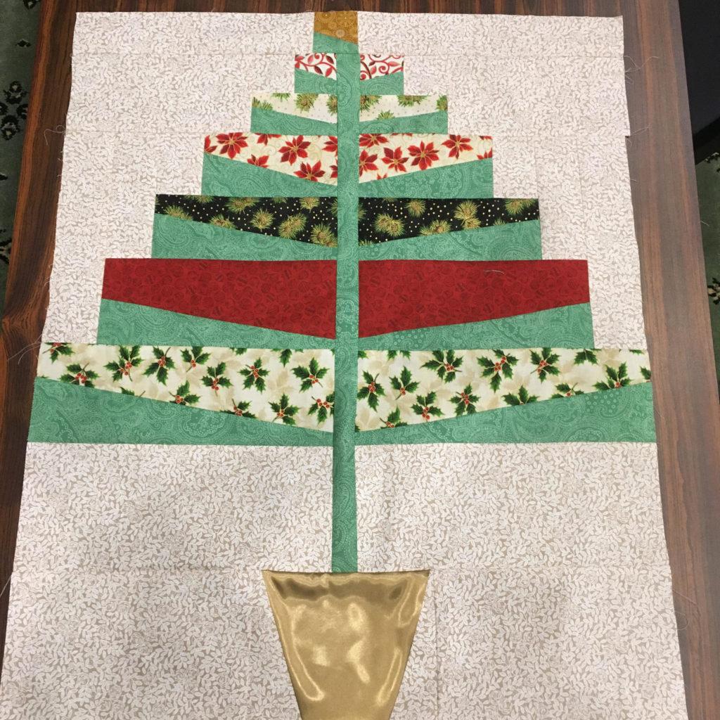 Valdez Quilt Festival, Christmas 1964, Blue Nickel Studios, Christmas Tree Quilt, Alaska quilt class