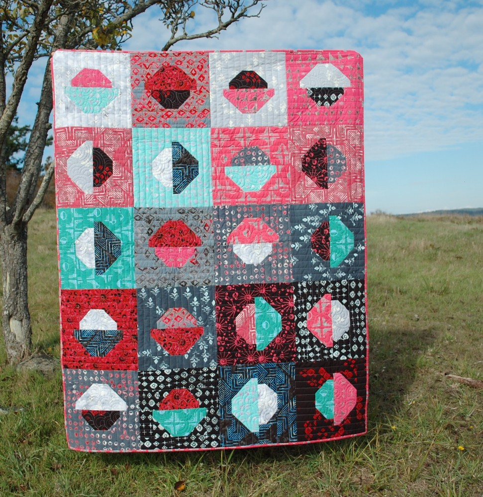 November - My Favorite Month, Chunky Dot Code Quilt, Banyan Batiks, Tie One On, Blue Nickel Studios, Urban Folk Quilts
