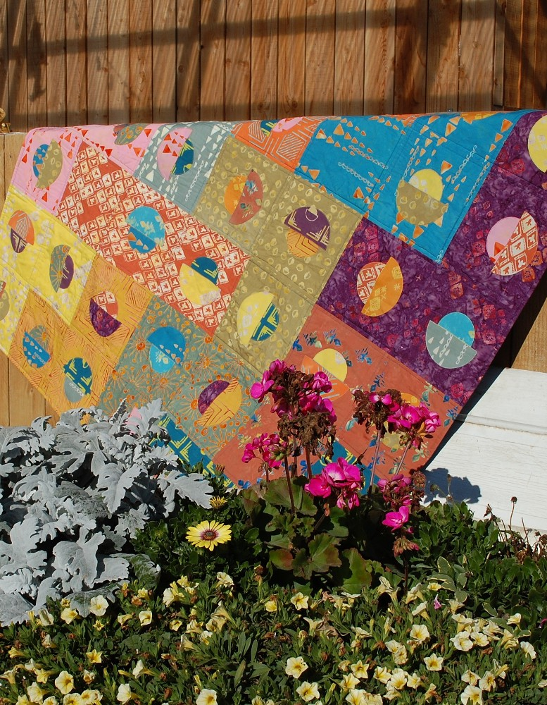 November -My Favorite Month, Dot Code Creamy Quilt, Banyan Batiks, Tie One On, Blue Nickel Studios, Urban Folk Quilts