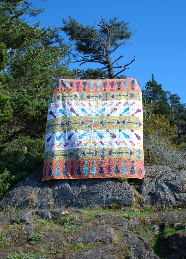 November - My Favorite Month, Looking Good Quilt, Banyan Batiks, Tie One On, Blue Nickel Studios, Urban Folk Quilts