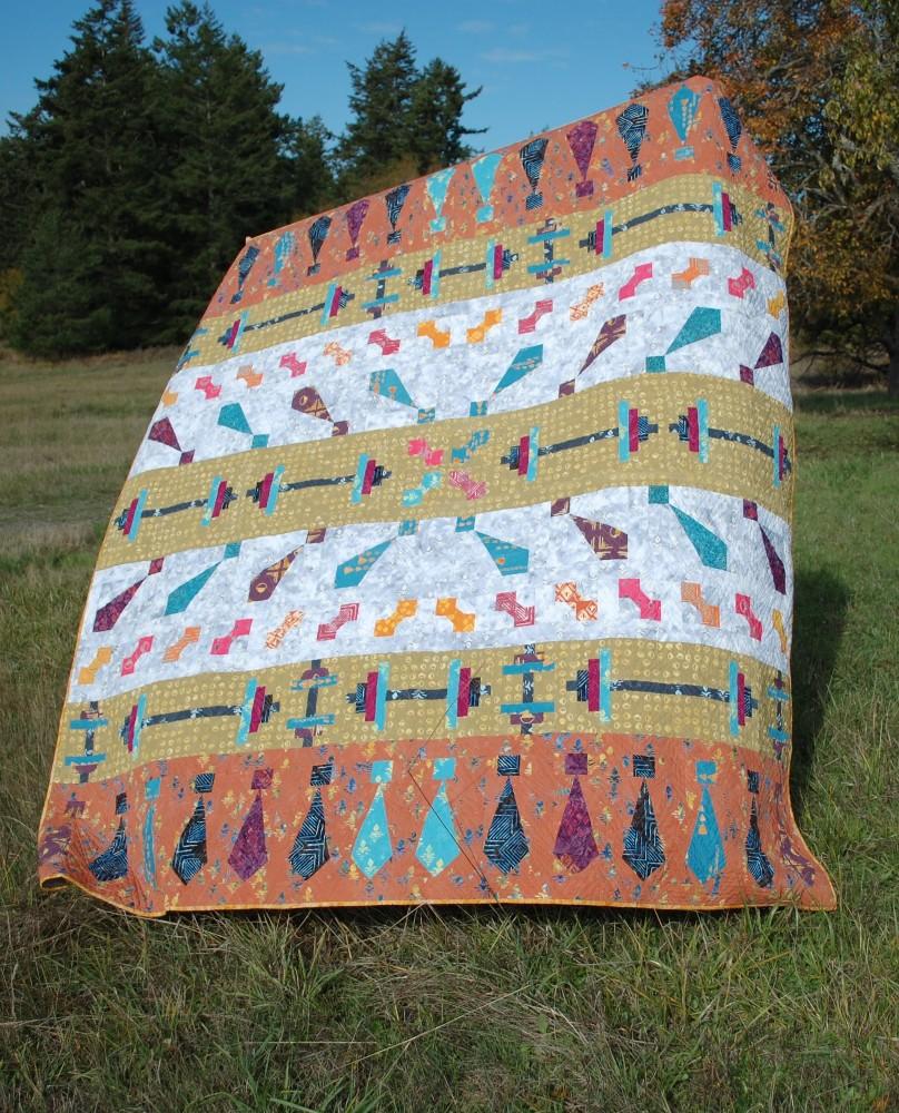 November -My Favorite Month, Looking Good Quilt, Banyan Batiks, Tie One On, Blue Nickel Studios, Urban Folk Quilts
